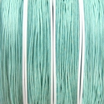 waxed cord 1 mm - baby blue