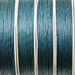 waxed cord 1 mm - dark turquoise