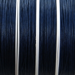 waxed cord 1 mm - dark blue
