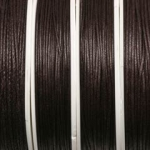waxed cord 1 mm - dark brown