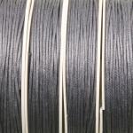 waxed cord 1 mm - gray