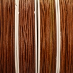 waxed cord 1 mm - cognac brown