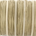 waxed cord 1 mm - sand