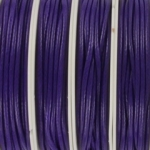shiny waxed cord 2 mm - purple