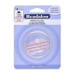beadalon german style wire half round 20 gauge - silver