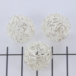 wire bead silver - 18 mm