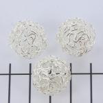 wire kraal lichtzilver - 18 mm