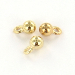 Extra pictures charm small round ball 4 mm - gold