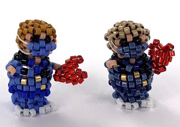 Extra foto's DIY kit mini 3D dokter - mix voor gratis patroon Threadabead