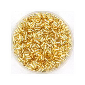 Extra foto's miyuki bugles 3 mm - silverlined gold