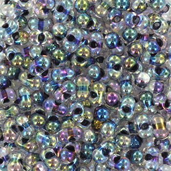 Extra foto's miyuki berry bead - noir lined crystal ab