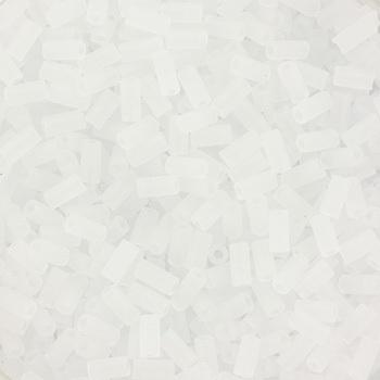 Extra foto's miyuki bugles 3 mm - transparant matte crystal