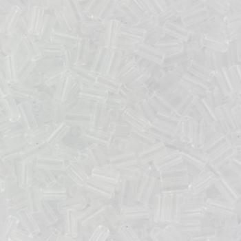 Extra foto's miyuki bugles 3 mm - transparant crystal
