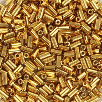 Extra foto's miyuki bugles 3 mm - 24kt gold plated