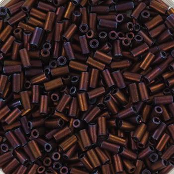 Extra foto's miyuki bugles 3 mm - metallic matte iris dark raspberry