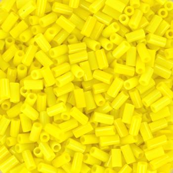 Extra foto's miyuki bugles 3 mm - opaque yellow