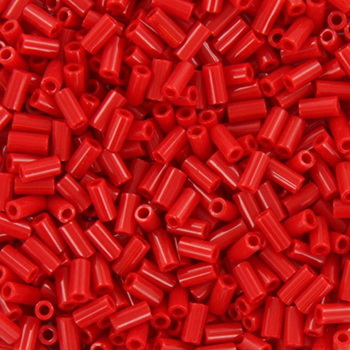 Extra foto's miyuki bugles 3 mm - opaque red