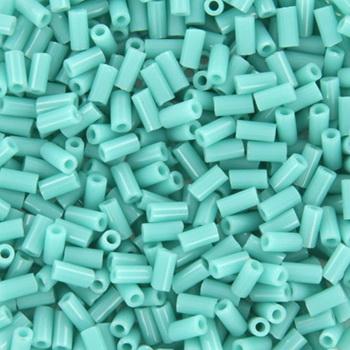 Extra foto's miyuki bugles 3 mm - opaque turquoise green