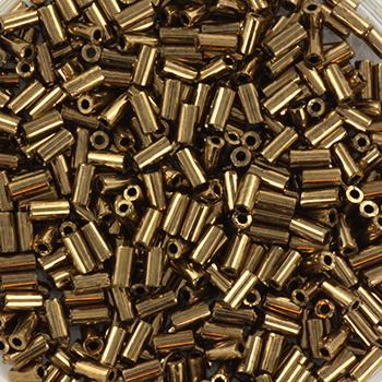 Extra foto's miyuki bugles 3 mm - metallic dark bronze