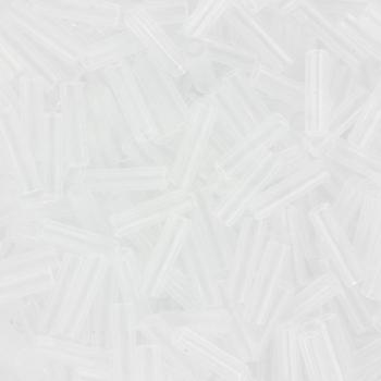 Extra foto's miyuki bugles 6 mm - crystal