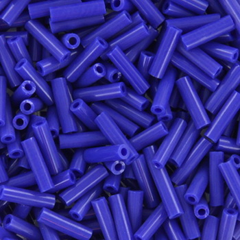 Extra foto's miyuki bugles 6 mm - opaque cobalt