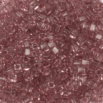 Extra foto's miyuki cubes 1.8mm - transparant smoky amethyst