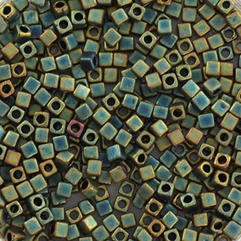 Extra foto's miyuki cubes 1.8mm - metallic matte iris patina