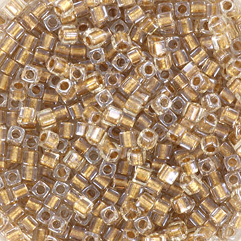 Extra foto's miyuki cubes 1.8mm - sparkle metallic gold lined crystal