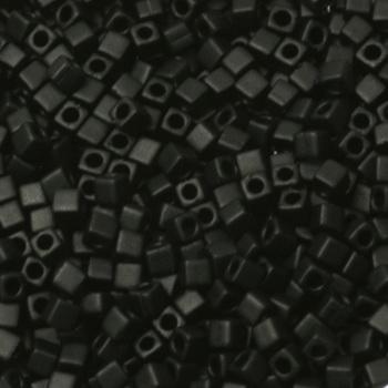 Extra foto's miyuki cubes 1.8mm - opaque matte black