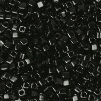 Extra foto's miyuki cubes 1.8mm - opaque black