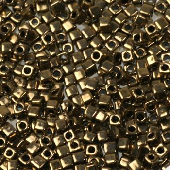 Extra foto's miyuki cubes 1.8mm - metallic dark bronze
