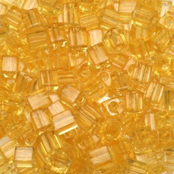 Extra foto's miyuki cubes 3mm - transparant light topaz