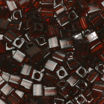 Extra foto's miyuki cubes 3mm - transparant dark topaz