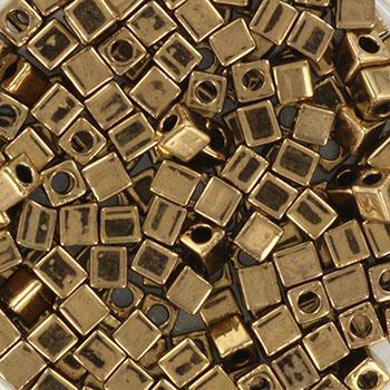 Extra foto's miyuki cubes 3mm - metallic dark bronze