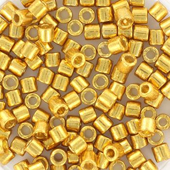 Extra foto's miyuki delica's 8/0 - duracoat galvanized gold