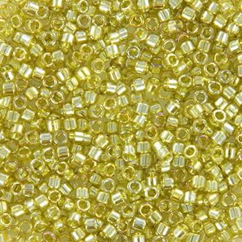 Extra foto's miyuki delica's 11/0 - transparant luster golden olive