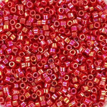 Extra foto's miyuki delica's 11/0 - opaque ab red