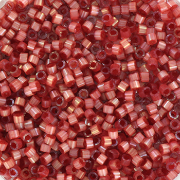 Extra foto's miyuki delica's 11/0 - silk satin dyed dark berry