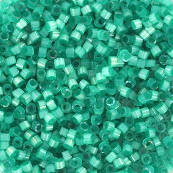 Extra foto's miyuki delica's 11/0 - silk satin dyed aqua green