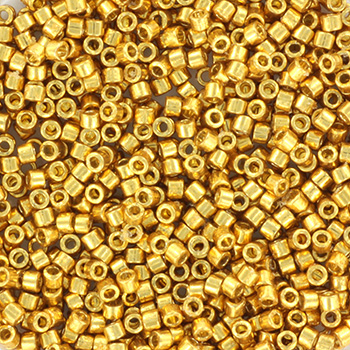 Extra foto's miyuki delica's 11/0 - duracoat galvanized gold