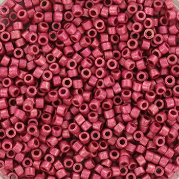 Extra foto's miyuki delica's 11/0 - duracoat galvanized matte hot pink