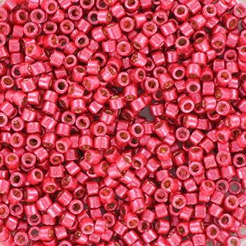 Extra foto's miyuki delica's 11/0 - duracoat galvanized light cranberry