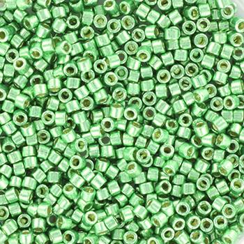 Extra foto's miyuki delica's 11/0 - duracoat galvanized dark mint green