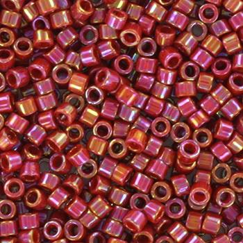 Extra foto's miyuki delica's 11/0 - opaque glazed dark red