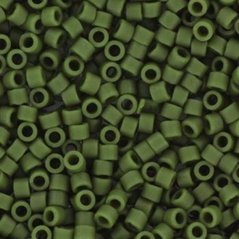 Extra foto's miyuki delica's 11/0 - opaque glazed frosted dark green