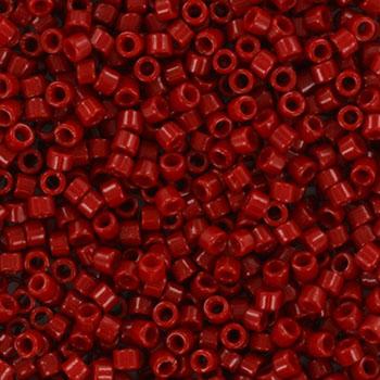 Extra foto's miyuki delica's 11/0 - duracoat opaque dyed garnet red