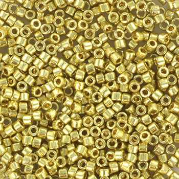 Extra foto's miyuki delica's 11/0 - duracoat galvanized pale soft gold