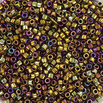 Extra foto's miyuki delica's 11/0 - metallic iris golden olive