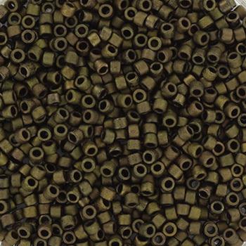 Extra pictures miyuki delica's 11/0 - metallic matte dark olive