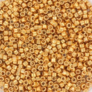 Extra foto's miyuki delica's 11/0 - galvanized yellow gold